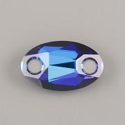 Našívací kamínky Swarovski Elements 3231 – Oval Sew–on – Bermuda Blue – 18mm