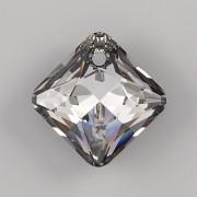 Swarovski Elements přívěsky 6431 Princess Cut – Silver Night - 11mm
