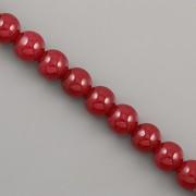 Korálky z minerálů - Červený Jadeit - 6mm