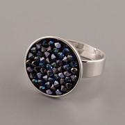 Prsten pro Crystal Rocks 20mm plochá šína - rhodium