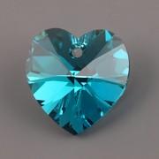 Swarovski Elements přívěsky 6228 – Srdce – Blue Zirkon AB – 10mm tovární balení