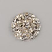 Crystal Rocks Swarovski Elements - Golden Shadow + GOLD na průhledném podkladu - 15mm