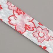 PRUŽENKA - Tyrkysová s růžovými květy - 15mm