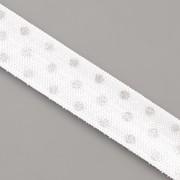 PRUŽENKA - Bílá se stříbrnými puntíky - 15mm