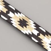 PRUŽENKA - Černá s indiánským vzorem - 15mm