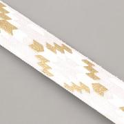 PRUŽENKA - Bílá s indiánským vzorem - 15mm