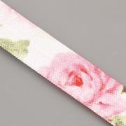 PRUŽENKA - Bílá s růžemi - 15mm