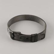 Páskový náramek ocelový - barva černá