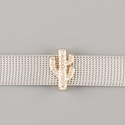 Přívěsek na páskový náramek - KAKTUS - zlatý