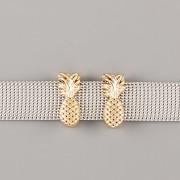 Přívěsek na páskový náramek - ANANAS - zlatý