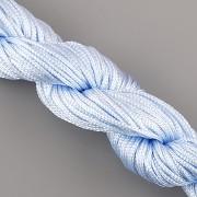 Šnůrka SPLÉTANÁ - nebesky modrá- 1mm