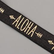 PRUŽENKA - Černá se zlatým ALOHA - 15mm