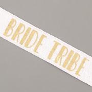PRUŽENKA - Bílá se zlatým BRIDE TRIBE - 15mm