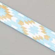 PRUŽENKA - Tyrkysová s indiánským vzorem - 15mm