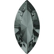 Swarovski NAVETTE 4228 – Black Diamond - 15mm