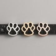Přívěsek na páskový náramek - PSÍ TLAPKA - růžové zlato