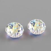 Briolette korálek 5040 Swarovski Elements - Crystal AB - 8mm