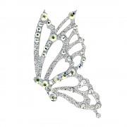 Nalepovací šperk na tělo a vlasy - MOTÝL - Crystal AB