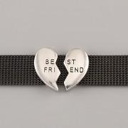 Přívěsek na páskový náramek - BEST FRIENDS - stříbrné