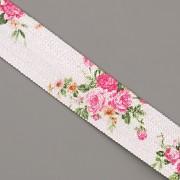 PRUŽENKA - Bílá s menšími růžemi - 15mm