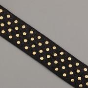 PRUŽENKA - Černá se zlatými puntíky - 15mm