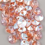 Swarovski Elements přívěsky 6428 – Rivoli – Rose Peach Shimmer - 8mm