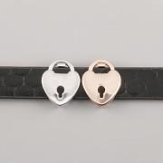 Přívěsek na páskový náramek - ZÁMEK - růžově zlatý