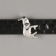 Přívěsek na páskový náramek - SLON NA VÝŠKU - stříbrný