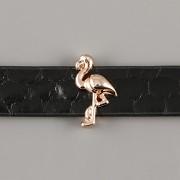 Přívěsek na páskový náramek - PLAMEŇÁK - růžově zlatý