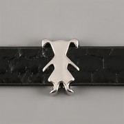 Přívěsek na páskový náramek - HOLKA - stříbrná