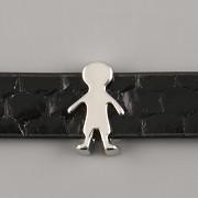 Přívěsek na páskový náramek - KLUK - stříbrný