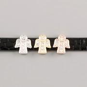 Přívěsek na páskový náramek - ANDĚL - stříbrný