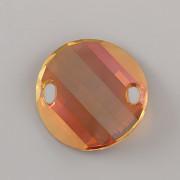 Našívací kamínky Swarovski Elements 3221 – Twist Sew–on – Copper – 28mm