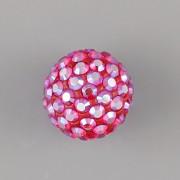 Půldírkový KORÁLEK S KAMÍNKY SWAROVSKI - Light Siam Shimmer - 10mm