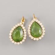BUBA kamínky - SLZIČKA zelená perleť perská - 14mm