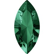 Swarovski NAVETTE 4228 – Emerald - 15mm