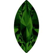 Swarovski NAVETTE 4228 – Dark Moss Green - 10mm