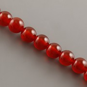 Korálky z minerálů - ACHÁT červený - 8mm