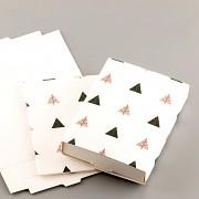 Krabička s geometrickým vzorem - skládací s kartičkou na náušnice