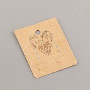 Kartička na náušnice - Follow your heart - 4x5cm