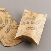 Polštářek s vnitřní kartičkou - s kapradinami