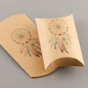 Polštářek s vnitřní kartičkou - s lapačem snů - přírodní
