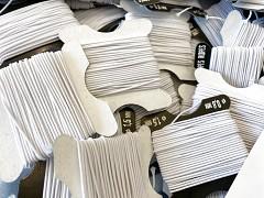 Gumička kulatá BÍLÁ 1mm - textilní povrch