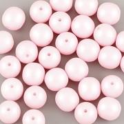Perličky - 50ks - 6mm - pastelová růžová