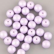 Perličky - 50ks - 6mm - pastelová fialková