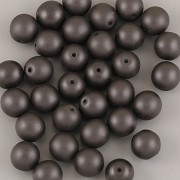 Perličky - 50ks - 6mm - matná černá
