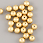 Perličky - 6mm - 50ks - METAL zlaté