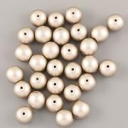 Perličky - 4mm - 100ks - METAL béžové
