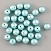 Perličky - 4mm - 100ks - METAL tmavě tyrkysové