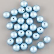 Perličky - 4mm - 100ks - METAL modré